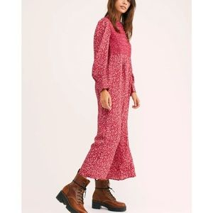 FREE PEOPLE SAINT HELENA SHANGRI PRINTED JUMPSUIT